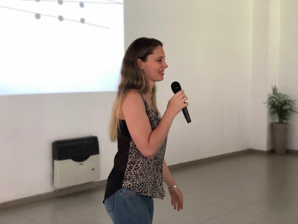 Silvina Paredes  speaks on innovation models.