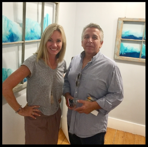 Owner, Anne-Marie Eddy, with artist Terry Lee