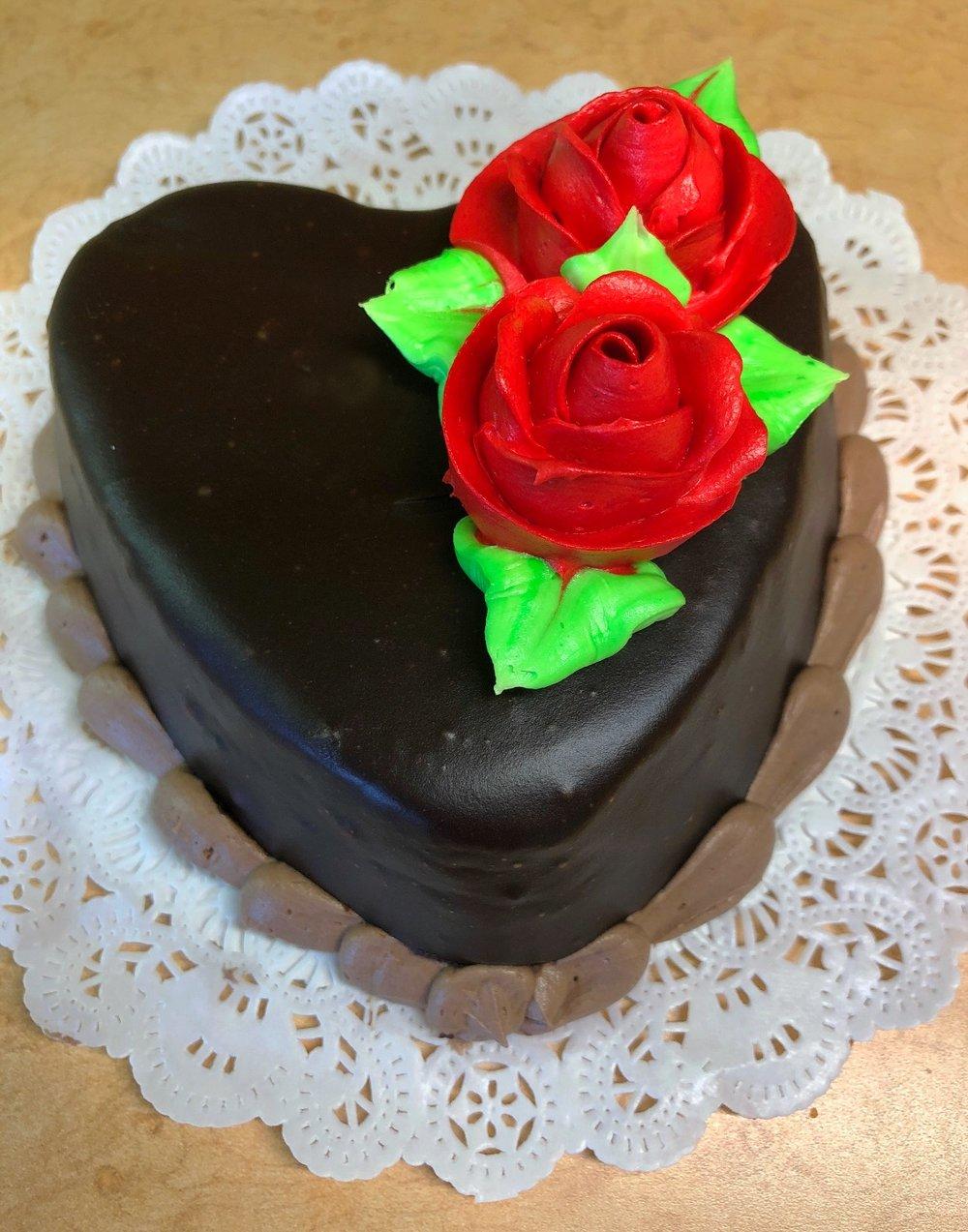 Individual heart shaped Brownie