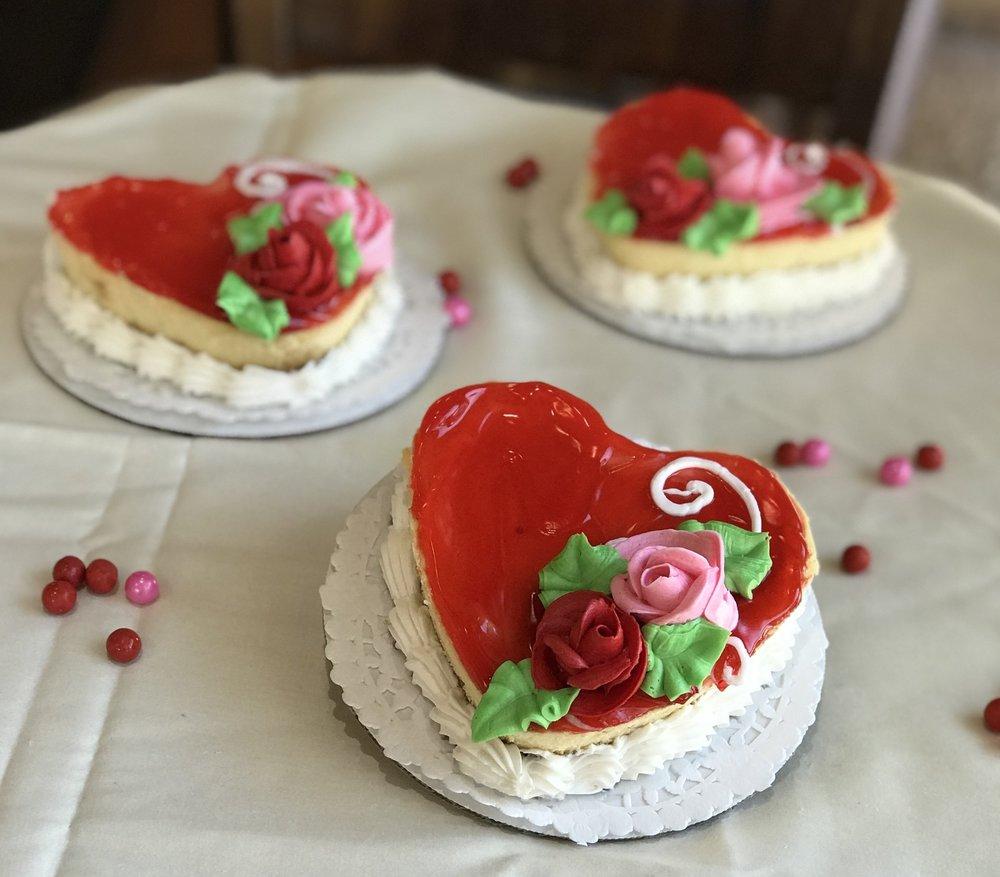 Individual heart shaped Cheesecake