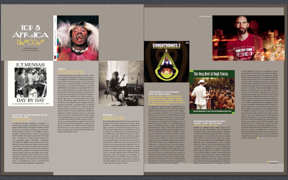 2011 Revista +Soma #26 - Artigo Top 5 Africa, Discos.png