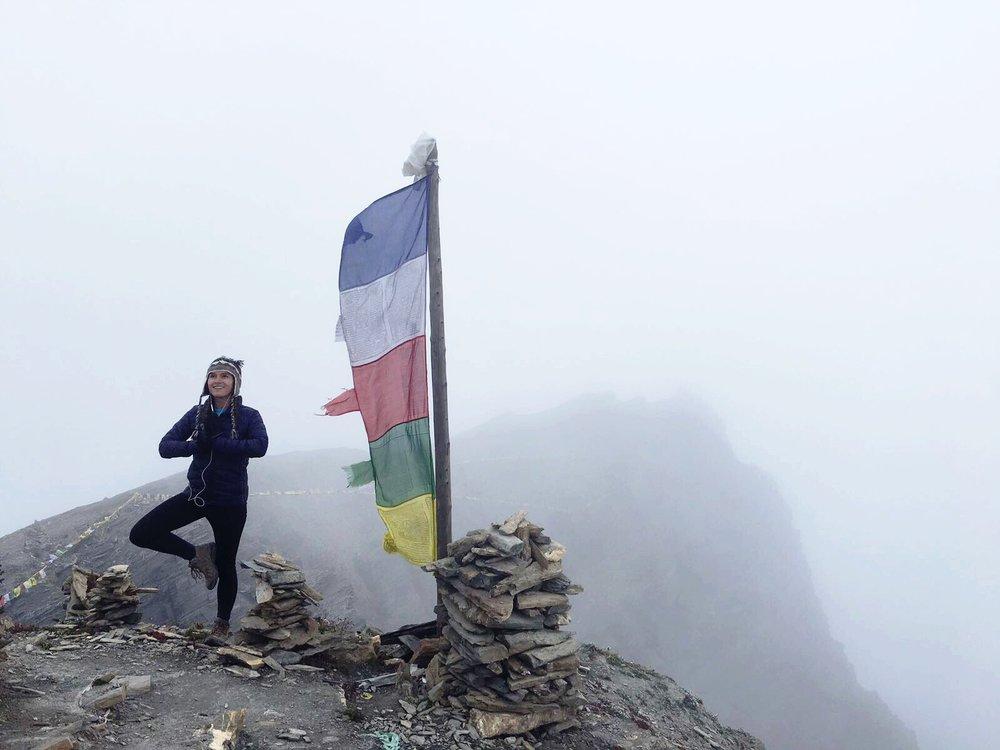 High Camp on solo trek through Annapurna Circuit, Himalayas, Nepal