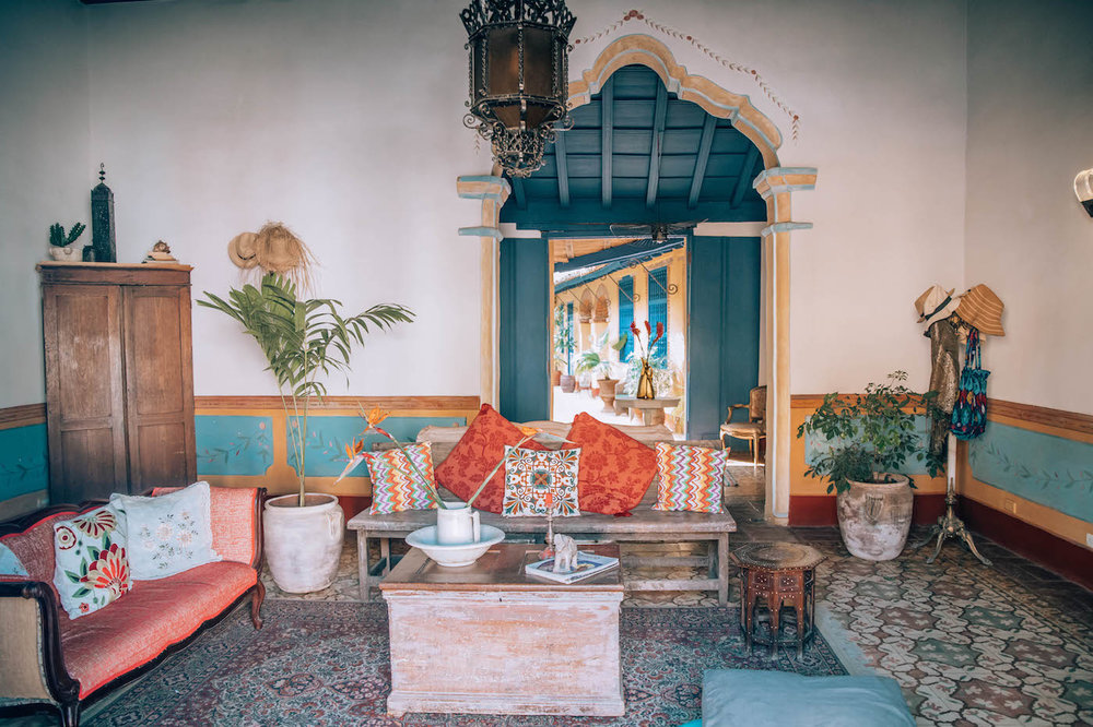 Our beautiful Airbnb in Trinidad, Cuba.