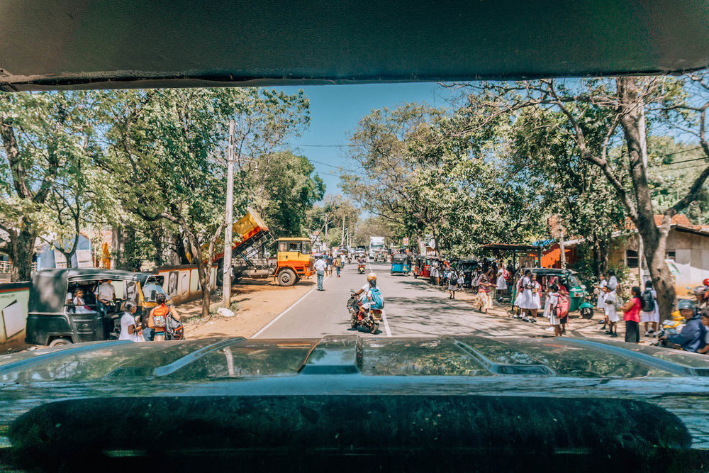 The town of Udawalawe, outside the National Park grounds.