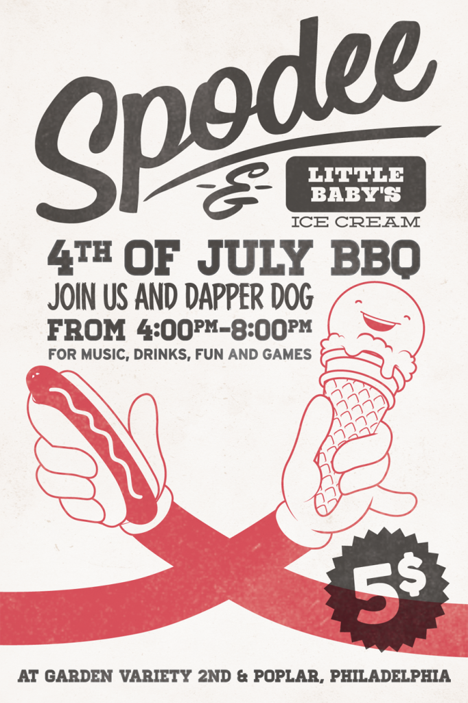 Spodee Wine and Little Baby's Ice Cream 4th of July