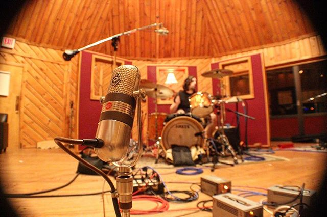 Tracking drums- P Station. With @littleredlightmedia @laces_out_dan @solomonsilber @evbakke @theoaronson #vintage #recording #gear #rocknroll #music