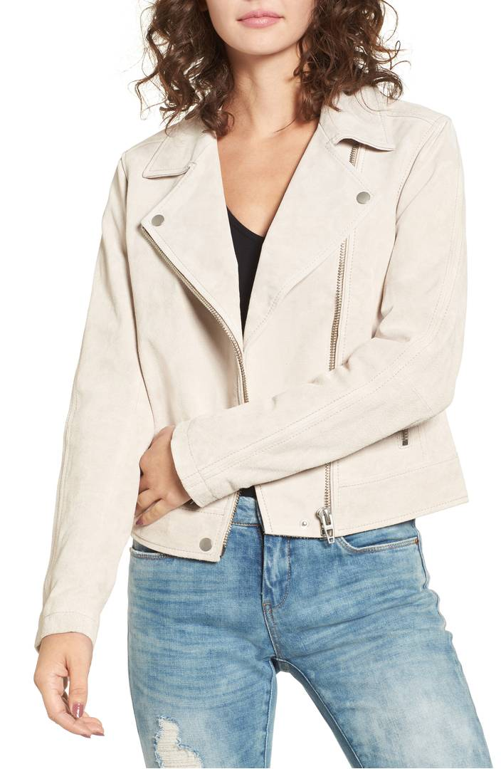 BLANKNYC Suede Moto Jacket - Blondie