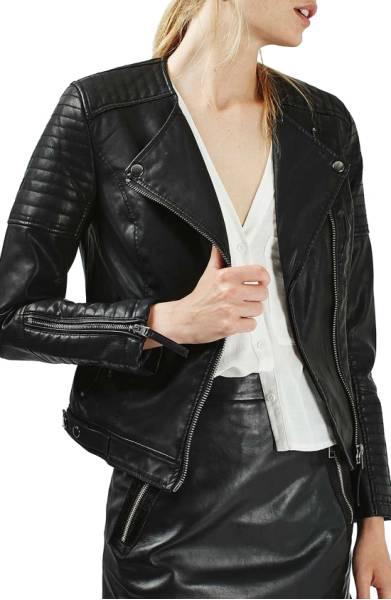 Nelly Faux Leather Biker Jacket
