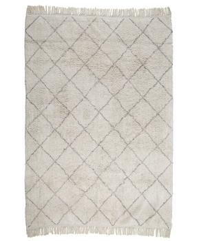 Cream & Gray Diamond Patterned Rug