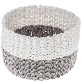 Gray & White Woven Basket