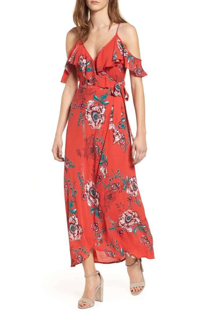 Foulard Cold Shoulder Dress