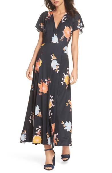 French Connection Shikoku Jersey Maxi Dress
