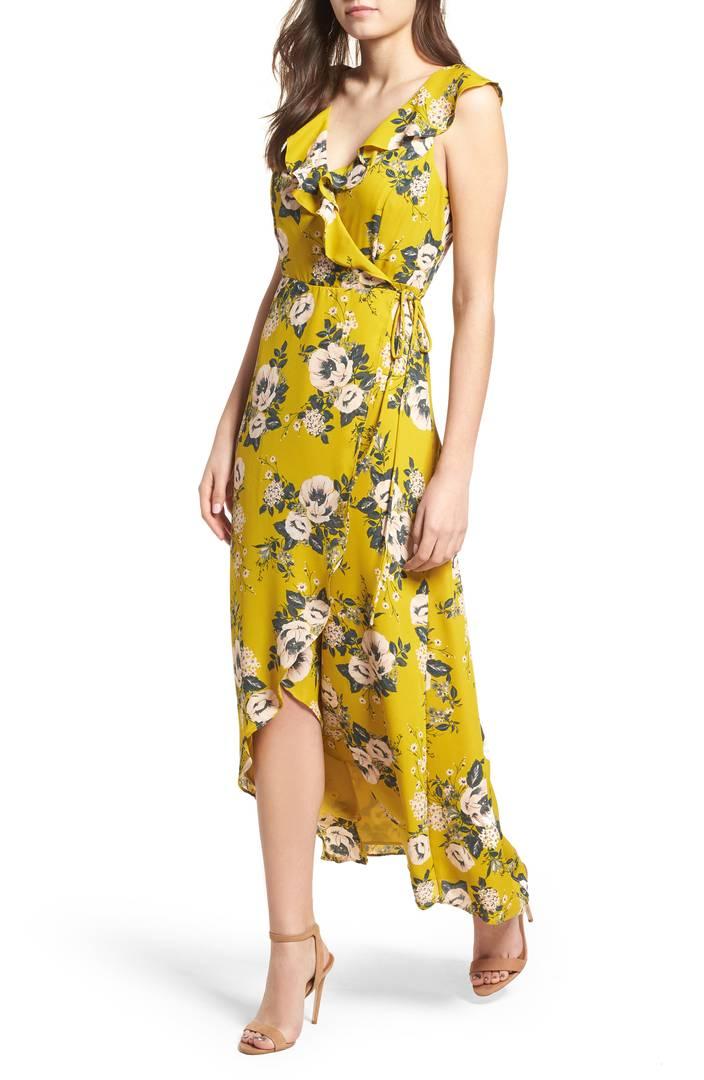 June & Hudson Wrap Maxi Dress