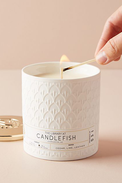 Anthropologie Candlefish Ceramic Candle