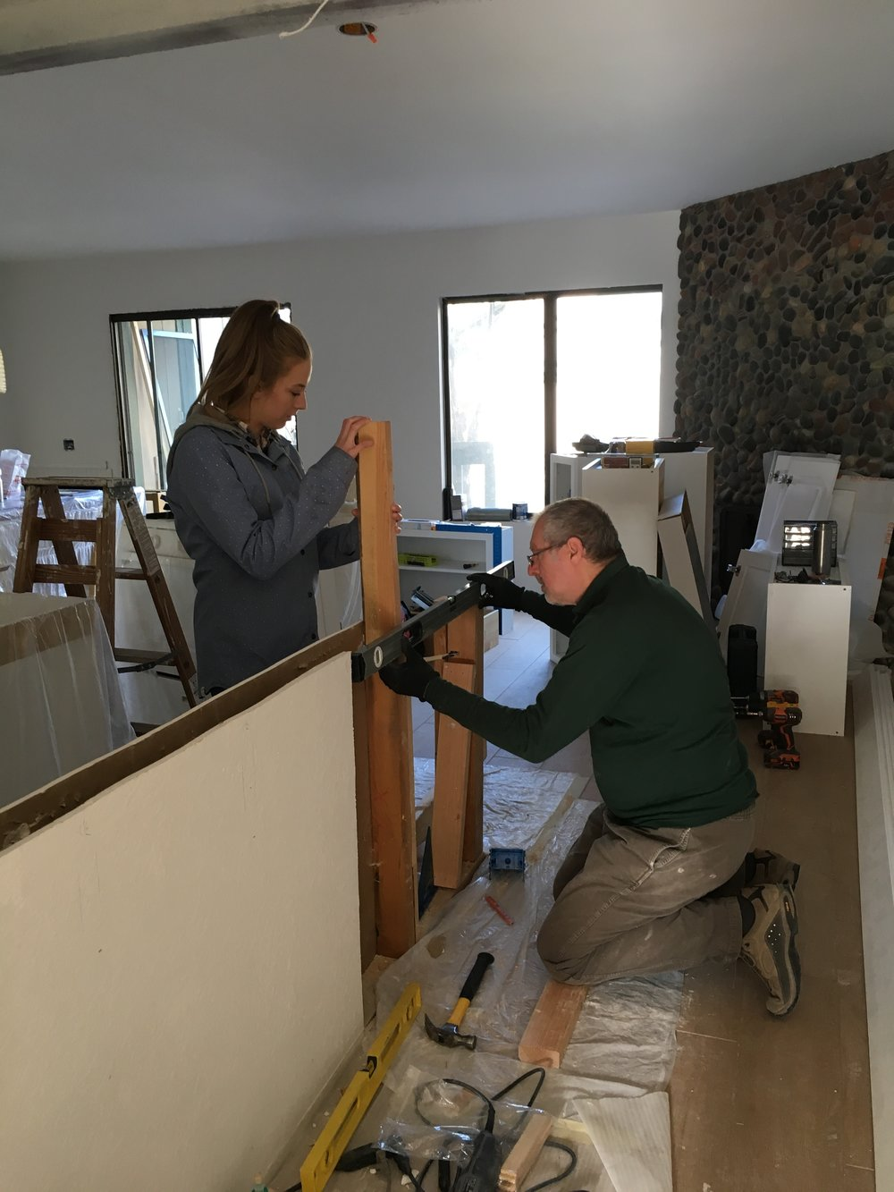 kitchen remodel, construction, renovation