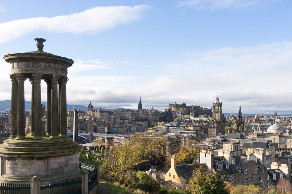 A view of Edinburgh, Scotland