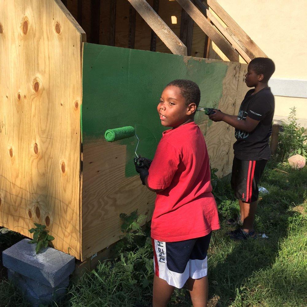 Tubman kids painting shed.jpg
