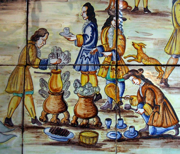 Chocolate making in New Spain.