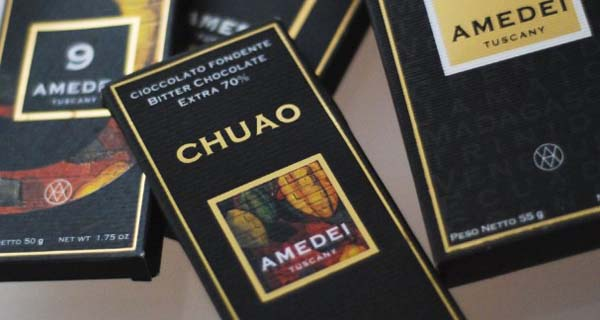 Amedei, founded in 1990, as a reaction to the industrialization of chocolate began producing high quality artisan chocolate. Today, viewed as one of the most luxurious chocolate brands.