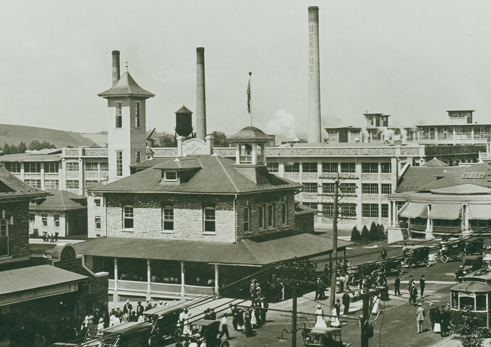Hershey Town in Pennsylvania, USA. Founded 1894.  http://www.hersheypa.com/about-hershey/history/index.php