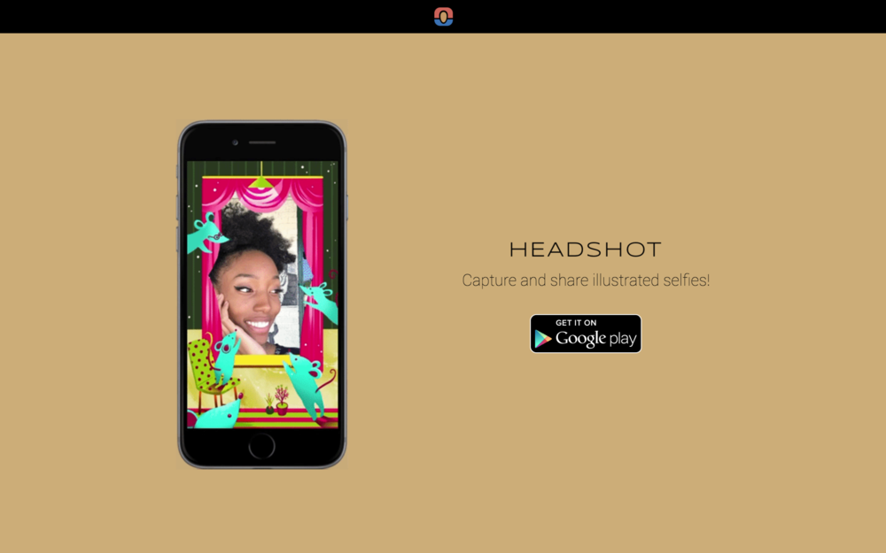 A minimalist landing page captures the essence of Headshot.