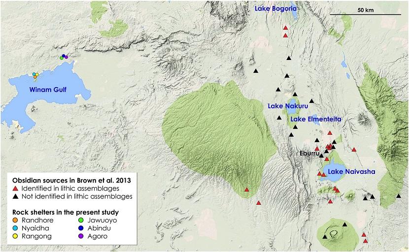 Obsidian sources in southwestern Kenya. From Frahm et al. 2017.