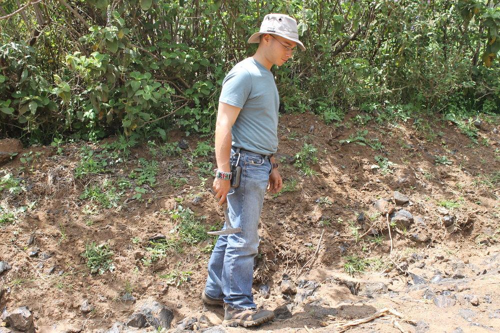 Surveying obsidian exposures