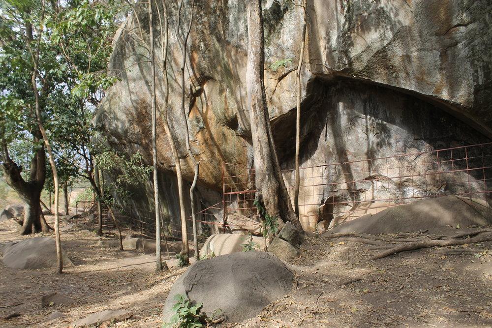 The Kakapel rockshelter, protected rockart site