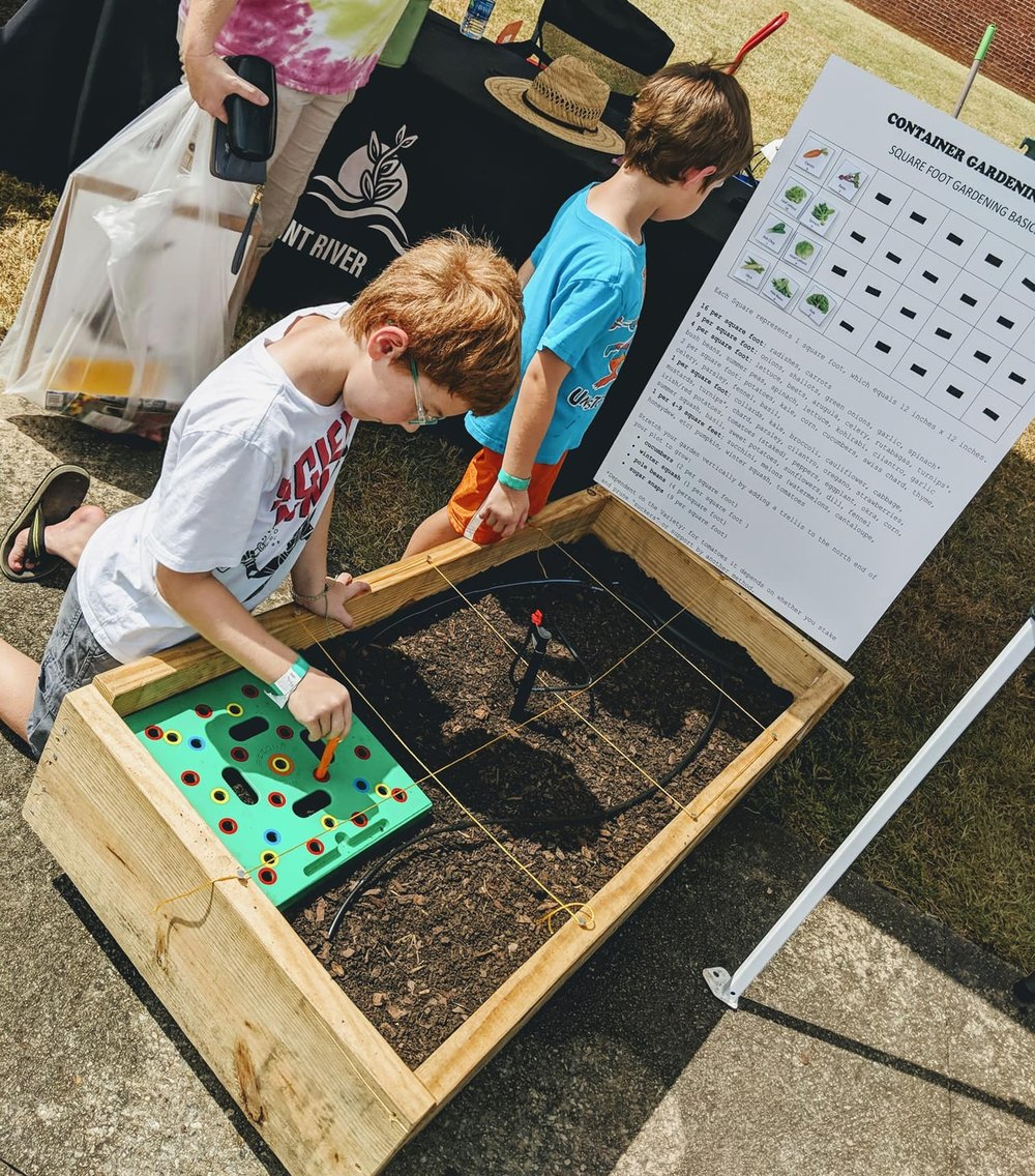 School Garden demonstration at Flint Riverquarium's Wings, Water, and Wildlife Festival