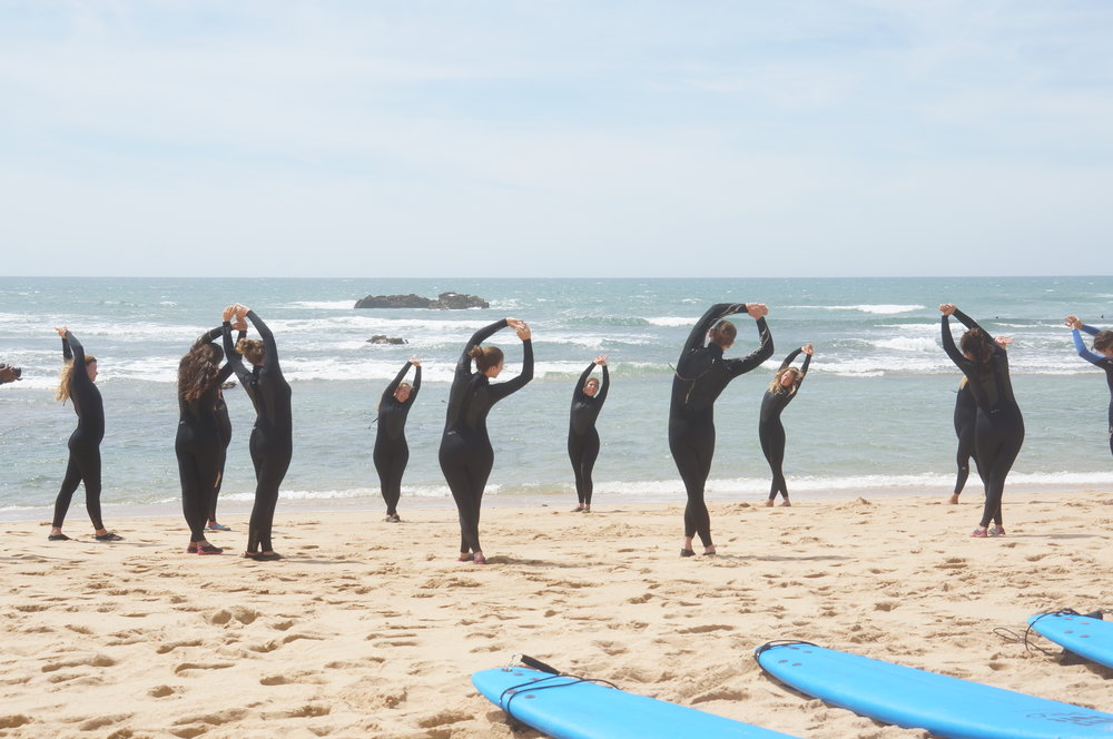 yoga and surf retreat inspiro yoga ericeira portugal