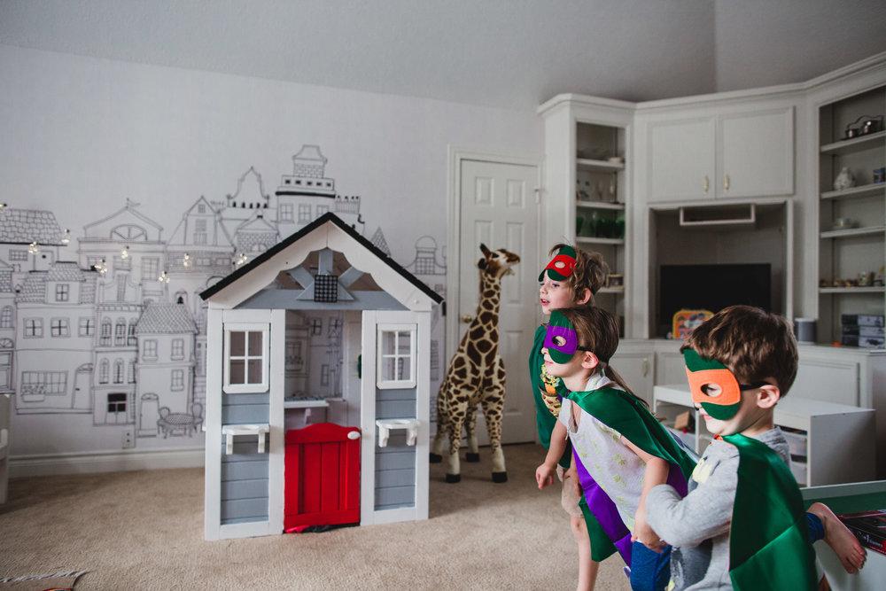 erin cummings photography in home birthday party ninja turtle kollin