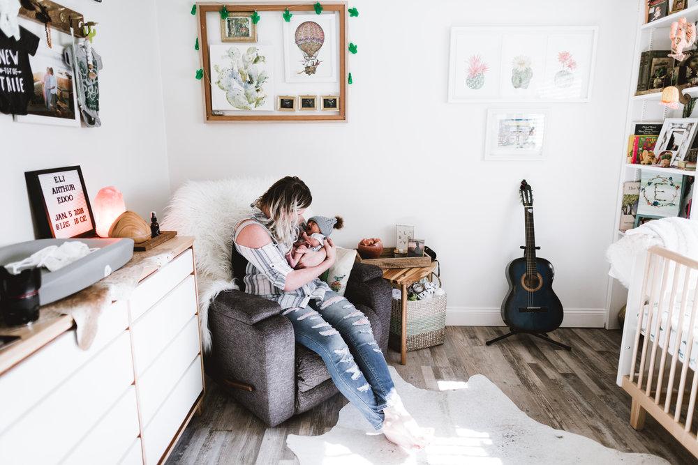 Eli Arthur Edoo lifestyle newborn erin cummings photography