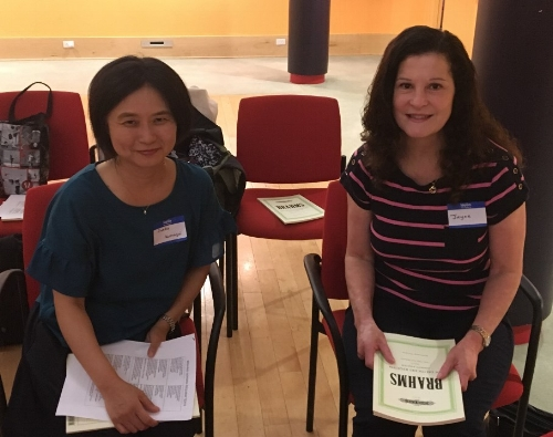 At her first WCS rehearsal in September 2017, Jayne Litton, right, met Junko Kumagai, also a new member.