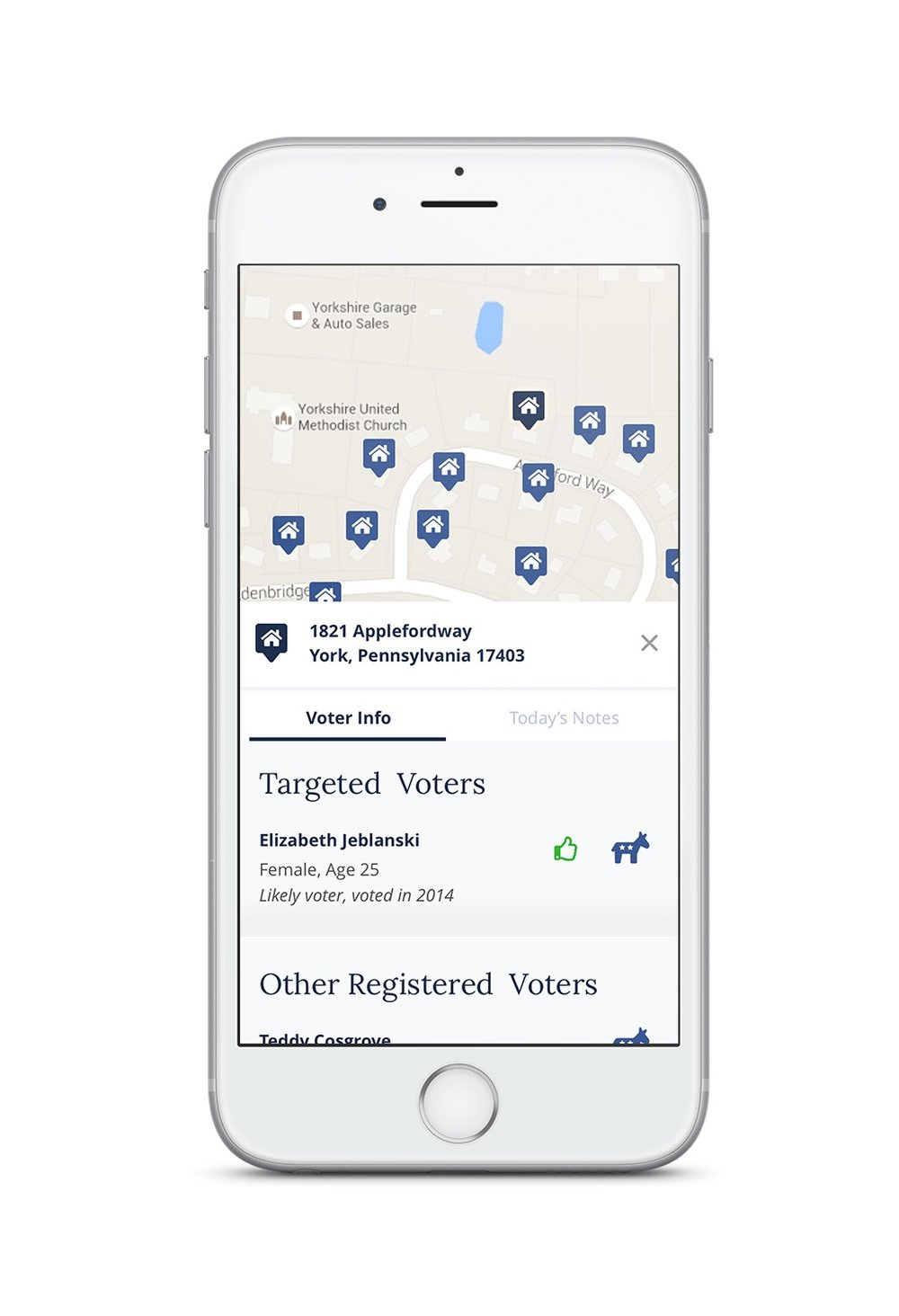 - Research shows that the key to your electoral success is through personal conversations with voters. Knocking doors and calling voters is easy with the Victory Guide app. Our technology does the hard work, like figuring out which voters you should target and mapping them into an easy to use app. Automatically generated walk sheets mean that you don't have to sit in front of a computer cutting turf; just open the app and start knocking in the neighborhood of your choice. Within the app, you'll be able to see key demographic information about each voter and take notes about your conversations.