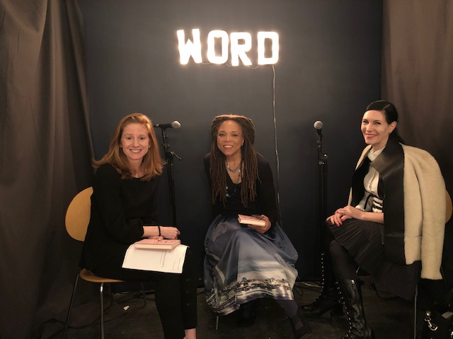 Lindsey Mead, Sophronia Scott and Jill Kargman at Word Bookstore in Brooklyn on pub day.