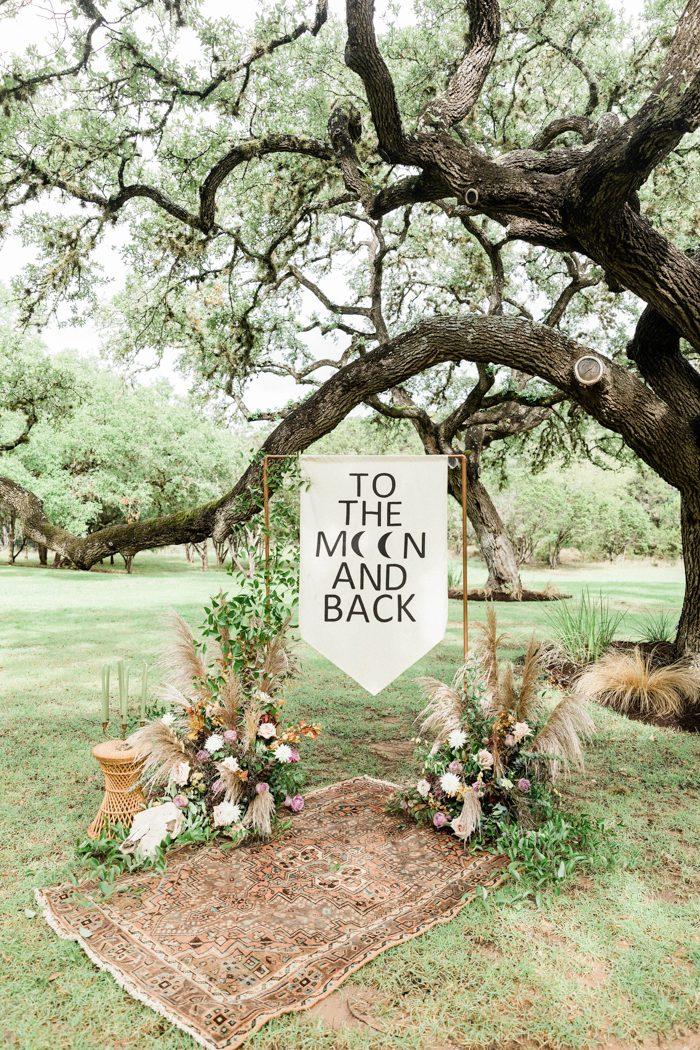 Junebug Weddings    Southwestern Bohemian Wedding Inspiration from The Big Fake Wedding Austin