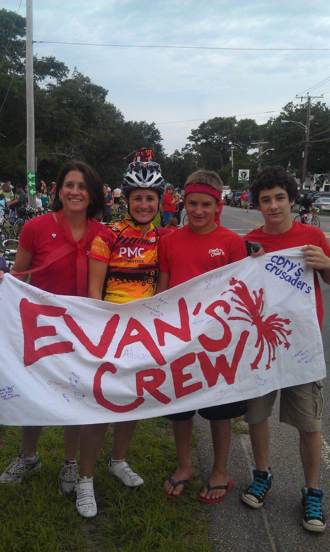Evan's Crew Pan Mass Challenge 2013