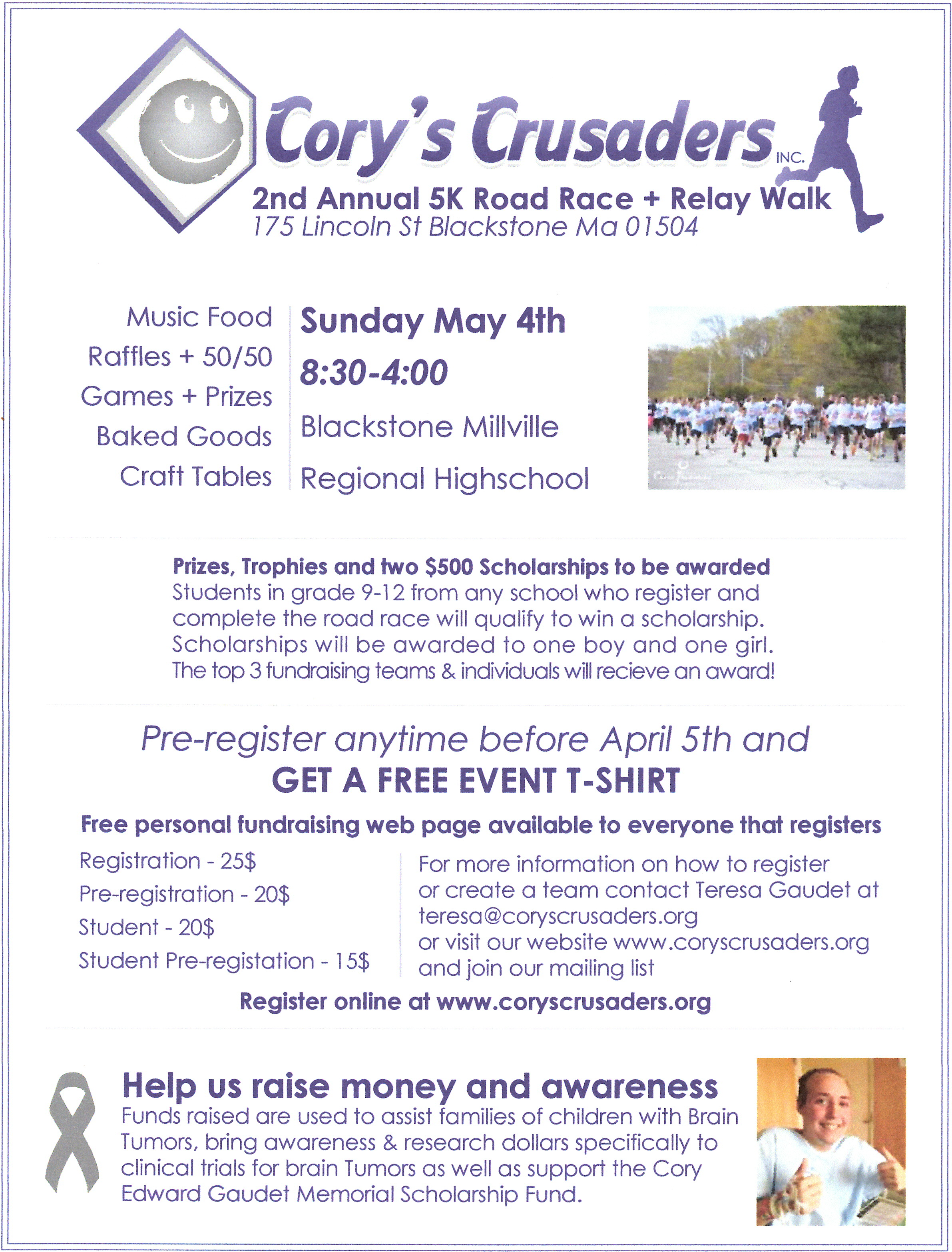 2nd Annual 5K Road Race & Relay Walk