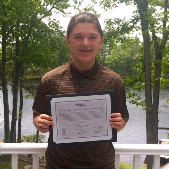 Logan Taft our 5K boy recipient