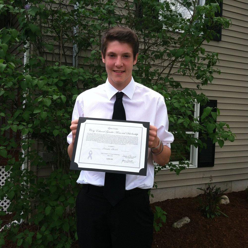 Brandon Stovall 5K Scholarship Winner 2014.jpg