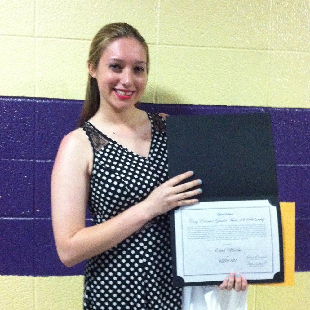 Erial Martin 2014 Scholarship Recepient at BMR.jpg
