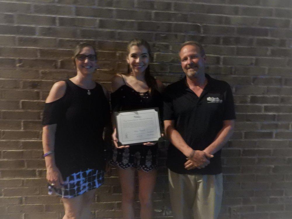 Haley Carroll our 5K girl 5K recipient