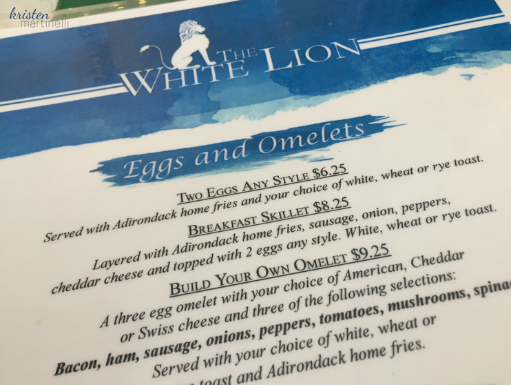 The White Lion Breakfast Menu_LG NY_KMartinelli Blog_Writer & Marketer