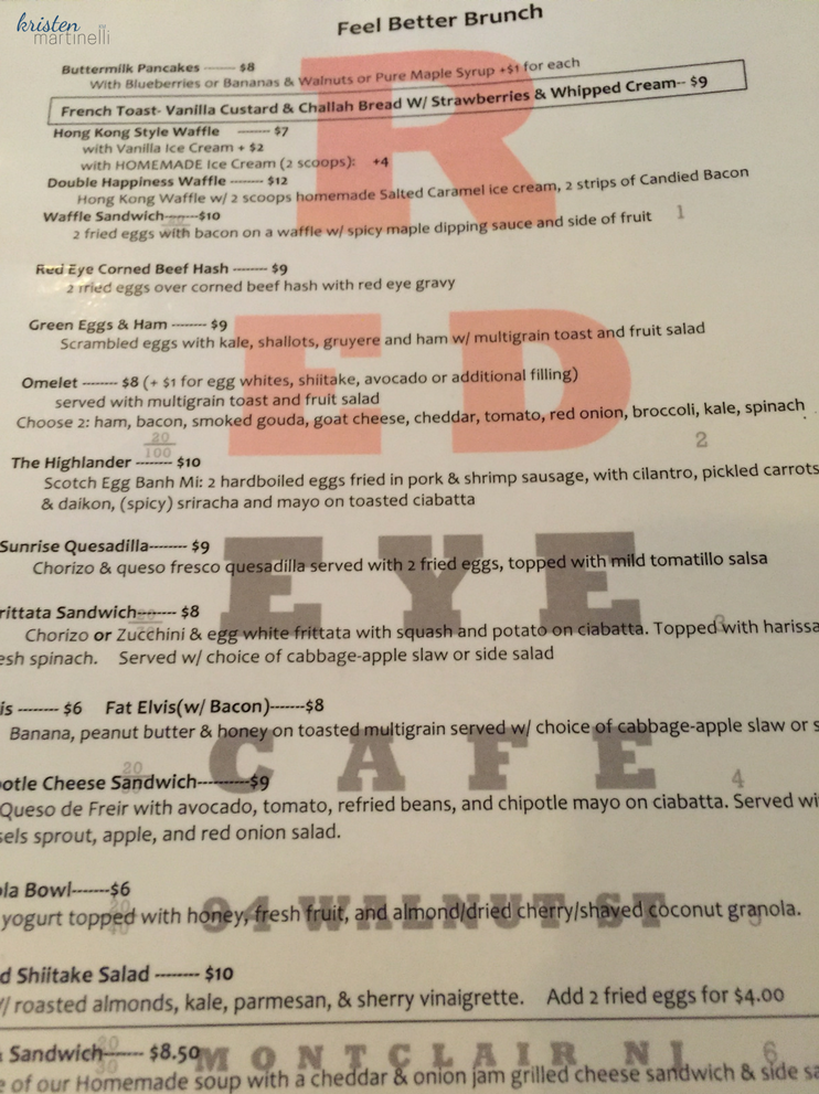 Red Eye Cafe Menu_KMartinelli Blog_Writer & Marketer