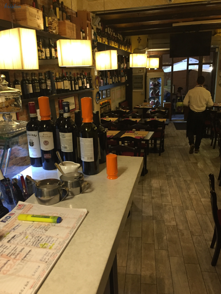 View of the restaurant from the counter