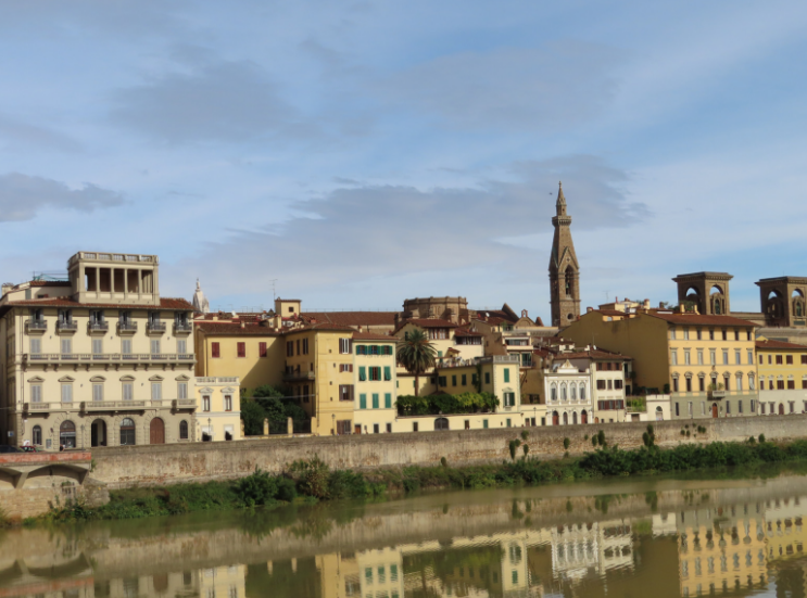 The river-front view from San Niccolò
