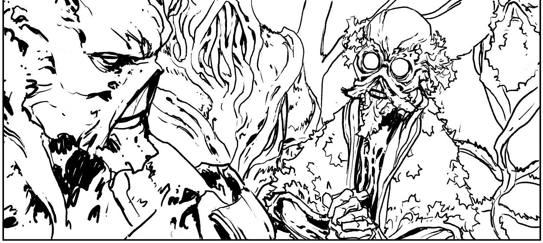 Panel from Swamp Thing #40, with art from Jesus Saiz. GORGEOUS.