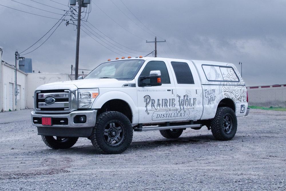 Prairie Wolf Distillery commercial truck wrap.jpg