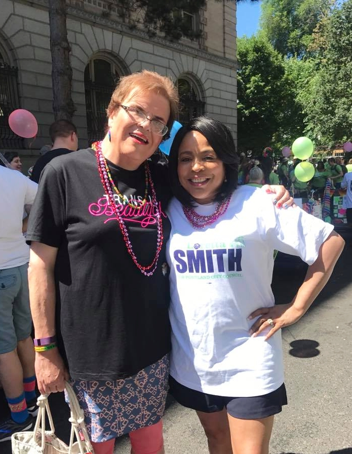 Lincoln County Commissioner Claire Hall (left) and Loretta Smith.