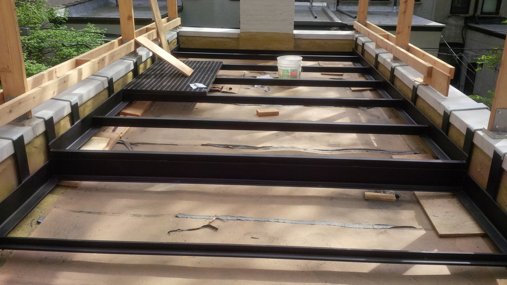 Steel deck framing: Park Slope Terrace